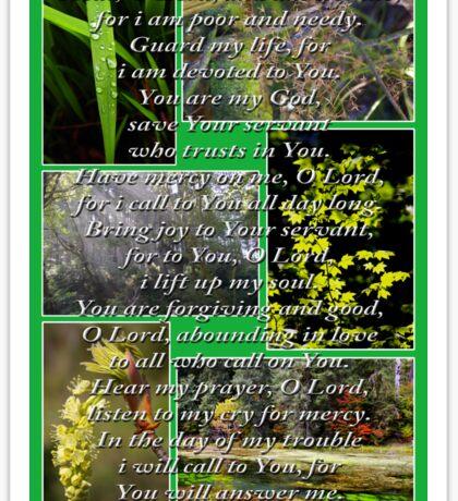 psalm 86:1-7 collage Sticker
