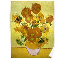 1889-Vincent van Gogh-Sunflowers-73x95 Poster