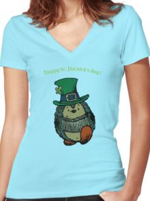 Happy St.Patrick's Day ! Women's Fitted V-Neck T-Shirt
