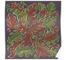 Oak leaves - Tataro pattern Poster
