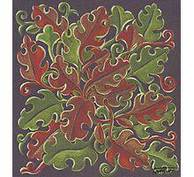 Oak leaves - Tataro pattern Photographic Print