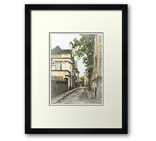 Old street in Oxford, England Framed Print
