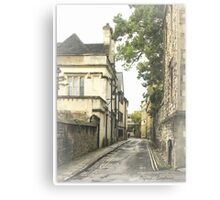 Old street in Oxford, England Canvas Print