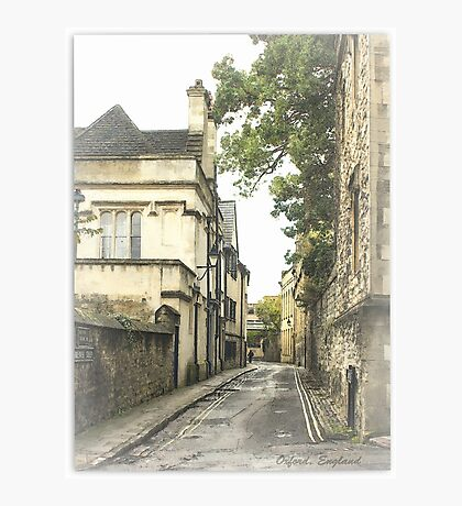 Old street in Oxford, England Photographic Print