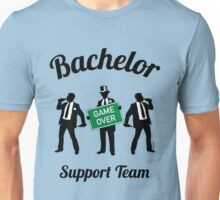 Bachelor Game Over Support Team (Stag Party) Unisex T-Shirt
