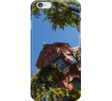Framing the Ornate Pink House - Washington, DC Dupont Circle Neighborhood  iPhone Case/Skin