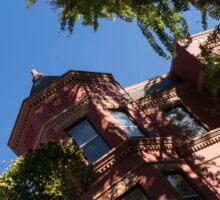 Framing the Ornate Pink House - Washington, DC Dupont Circle Neighborhood  Sticker