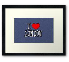 I Love London Framed Print