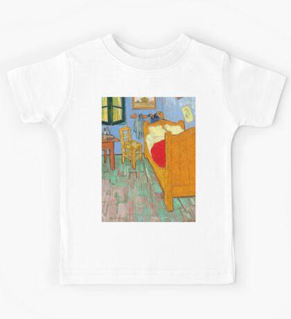 1889-Vincent van Gogh-The bedroom-73,6x92,3 Kids Tee