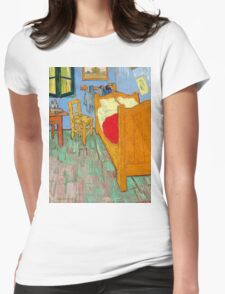 1889-Vincent van Gogh-The bedroom-73,6x92,3 Womens Fitted T-Shirt