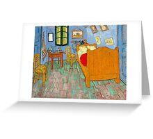 1889-Vincent van Gogh-The bedroom-73,6x92,3 Greeting Card
