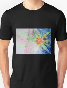 Flower of Sun, Sun of Flower - Original Wall Modern Abstract Art Painting Original mixed media Unisex T-Shirt