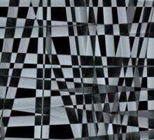 Abstract of black and white crossing pattern  Sticker