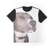 Blue American Staffordshire Terrier Facet Graphic T-Shirt