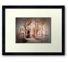 The Wooded Path Framed Print