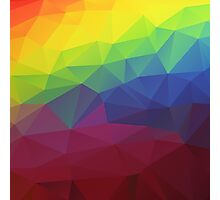 Colorful Abstract Geometric Triangles Pattern Photographic Print