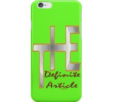 The Definite Article Design iPhone Case/Skin