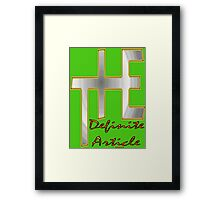 The Definite Article Design Framed Print