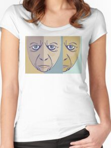 FACES #3 Women's Fitted Scoop T-Shirt