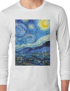 1889-Vincent van Gogh-The Starry Night-73x92 Long Sleeve T-Shirt