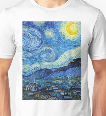 1889-Vincent van Gogh-The Starry Night-73x92 Unisex T-Shirt
