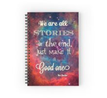 Doctor who quote Spiral Notebook