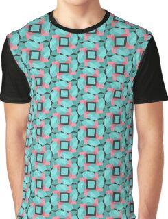 Cyan Geometry Graphic T-Shirt