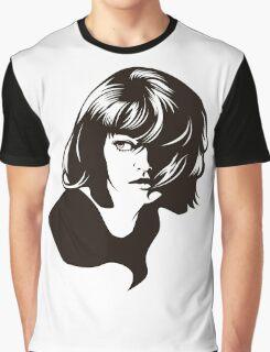 Pinup Hair 60s Retro Girl LZ Graphic T-Shirt