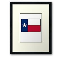 TEXAS, Lone Star, Texas Flag, Flag of the State of Texas, USA, America, American Framed Print
