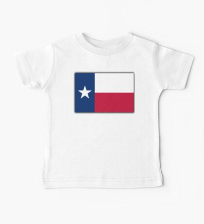 TEXAS, Lone Star, Texas Flag, Flag of the State of Texas, USA, America, American Baby Tee