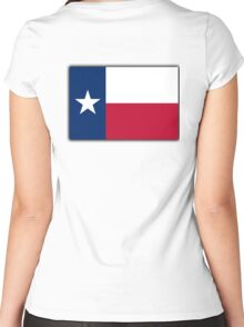 TEXAS, Lone Star, Texas Flag, Flag of the State of Texas, USA, America, American Women's Fitted Scoop T-Shirt