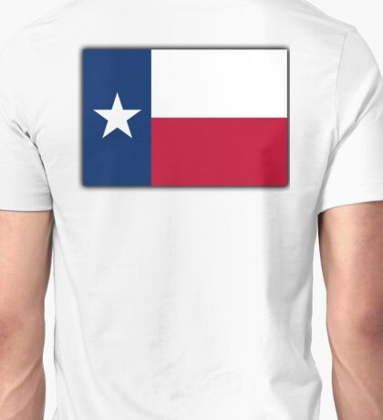 TEXAS, Lone Star, Texas Flag, Flag of the State of Texas, USA, America, American Unisex T-Shirt