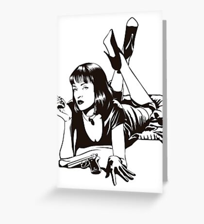 Pulp Movie Illustration Greeting Card