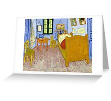 1889-Vincent van Gogh-Van Gogh's Bedroom in Arles-57x74 Greeting Card