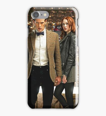 Doctor Who with Daleks iPhone Case/Skin