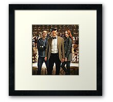 Doctor Who with Daleks Framed Print
