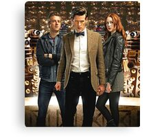 Doctor Who with Daleks Canvas Print