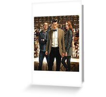 Doctor Who with Daleks Greeting Card