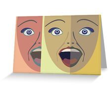 FACES #4 Greeting Card