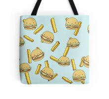 Burgies! - Burgers and Fries Scatter Pattern Tote Bag