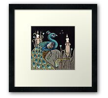 Mrs Peacock Framed Print