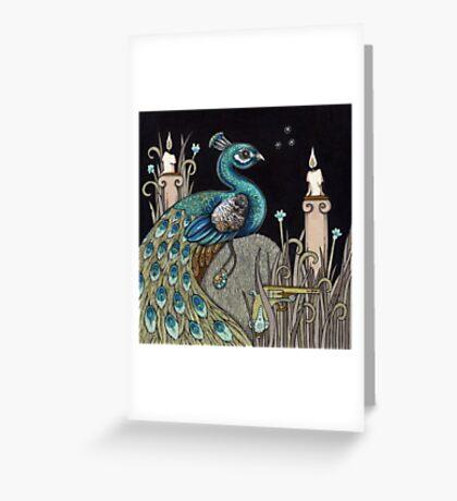 Mrs Peacock Greeting Card