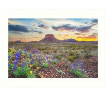 Sunrise at the Big Bend 5 Art Print