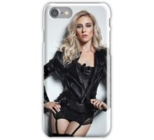 A Blonde In Leather iPhone Case/Skin