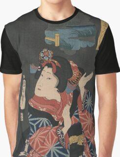 Kuniteru Utagawa - Young Maiden Oshichi - 1867 - Woodcut Graphic T-Shirt