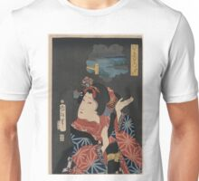 Kuniteru Utagawa - Young Maiden Oshichi - 1867 - Woodcut Unisex T-Shirt