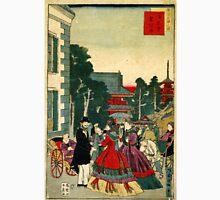 Kuniteru Utagawa - Asakusa Telegraph Bureau - Circa 1870 - Woodcut Unisex T-Shirt