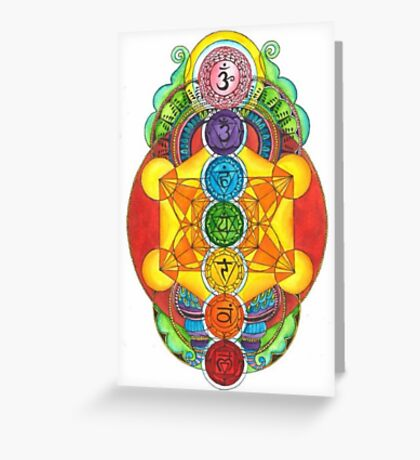Rainbow Chakra! Greeting Card