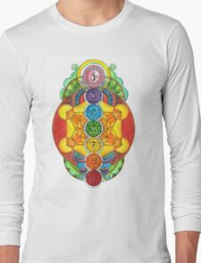 Rainbow Chakra! Long Sleeve T-Shirt