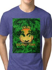 Island Time Palm Trees Tri-blend T-Shirt